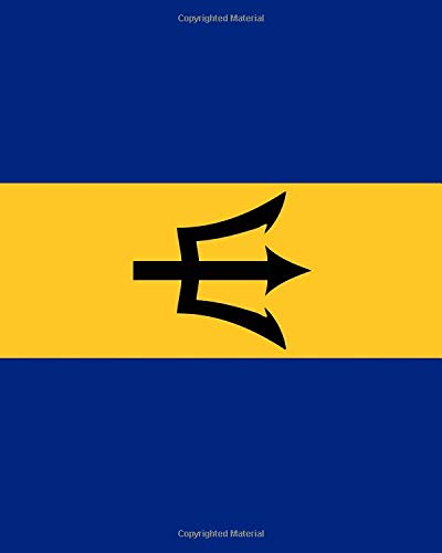 Barbados Flag Notebook: College Ruled Writer's Notebook for School, the Office, or Home! (8 x 10 inches, 120 pages)