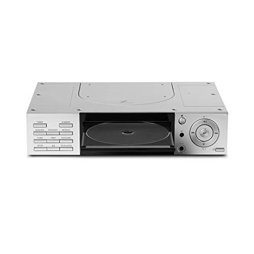 MEDION E66265 Stereo CD Unterbauradio, zur Montage, 2X 20 Watt RMS, PLL UKW/UKW-Stereo Radio, 20 Senderspeicher, Radio Data System, AUX Eingang, Silber (Daten Cd-player)