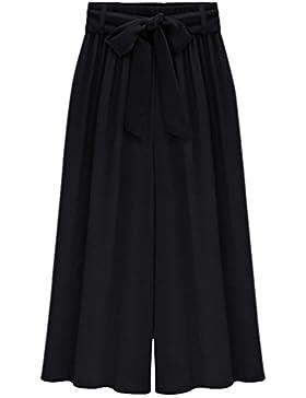 Heheja Donna Pantaloni Larghi di Vita Alta Pantaloni Eleganti a Palazzo Pantaloni Donna