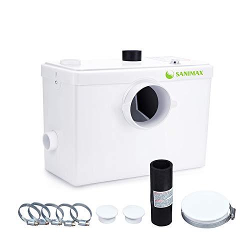 SANIMAX Broyeur Sanitaire, Pompe Automatique pour Eliminer les Eaux Usées, Silencieuse, Filtre Intégré (600W)