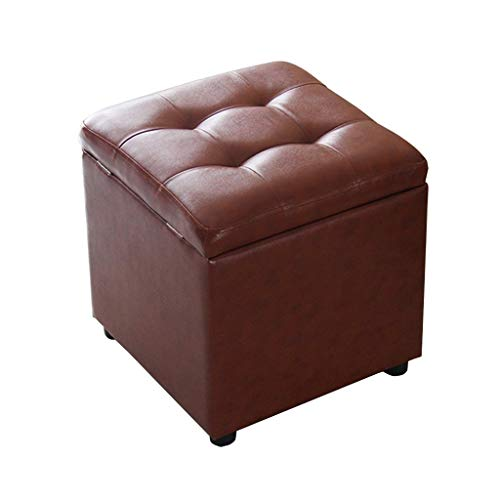CHENDZ Speicherhocker Aufbewahrungsbox kann Erwachsene Schuhe Bank Hause Leder Sofa Bank Platz Lagerung Hocker braun sitzen Tragbarer Stuhl im freien - Leder-sofa Platz