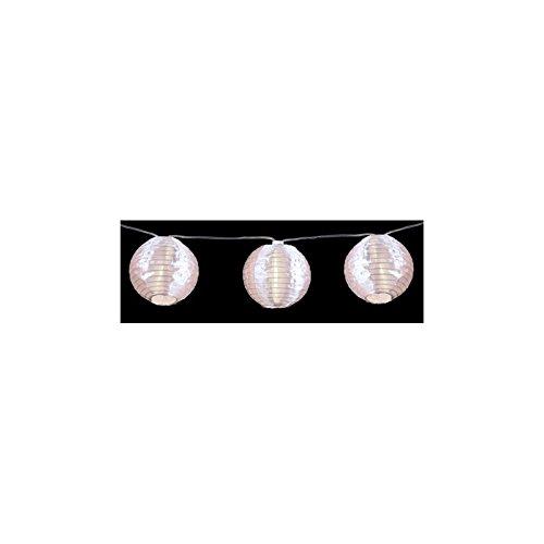 Guirlande d'intérieur - 10 lampions - Décoration lumineuse - 1m35 de lumière