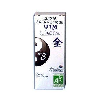 Laboratoire 5 Saisons - Elixir Énergétique 5 Saisons N°8 (Certifié Ab) - Yin Du Métal (Poumon) - Contenance : 50 ml