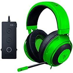 Razer Kraken Tournament Edition: THX Spatial Audio - Contrôle audio complet - Coussinets en gel rafraîchissant - Casque de jeu, compatible avec PC, PS4, Xbox One, Switch, et appareils mobiles - Vert