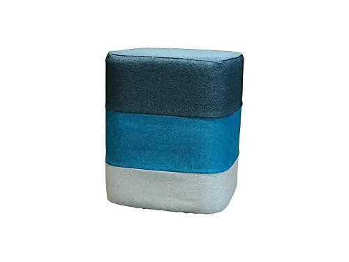 St@llion Retro Taburete Otomano Cuadrado Puff Colorido, Azul, 36 cm X
