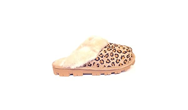 ad0c747e2e5e Jyoti Marni Womens Faux Fur Lined Leopard Print Mule Slippers Light Brown  Size UK 8: Amazon.co.uk: Shoes & Bags