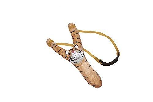 Juguetutto - Tirachinas Tigre. Con este tirachinas de juguete con forma de tigre y hecho en madera podrá disparar lo que quiera