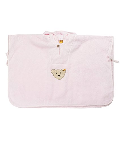 Steiff Unisex - Baby Bademantel Bade Poncho 0002927, Gr. one size, Rosa (barely pink)