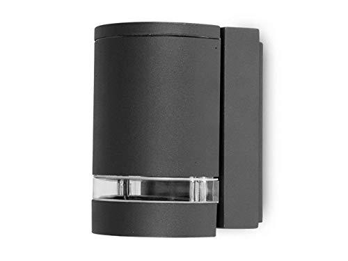 Eco Light Moderne Außenwandleuchte Focus Downlight, Fassung GU10, IP44 6041 GR -