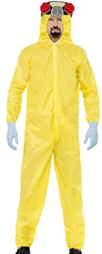x - Erwachsene Breaking Bad Anzug, M, Gelb (Breaking Bad Schutzanzug Halloween-kostüm)