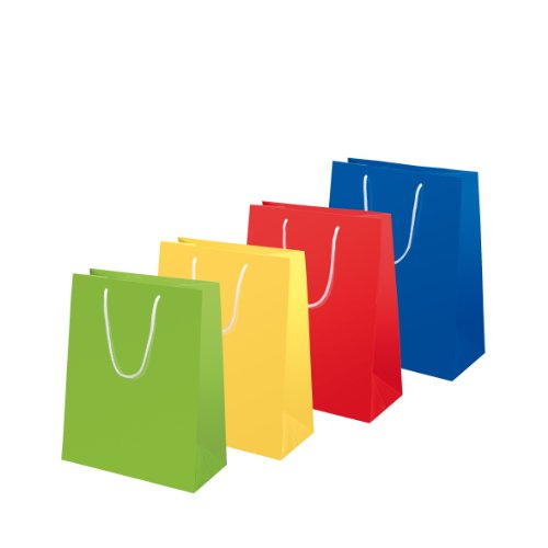 Susy Card 11277647 Geschenktaschen Uni Sortiment, 10-er Packung, glänzendes Papier