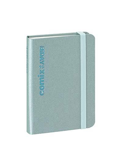 Agenda Comix 12 Mesi BiDay, formato Small 7x10 cm, Azzurro Metal