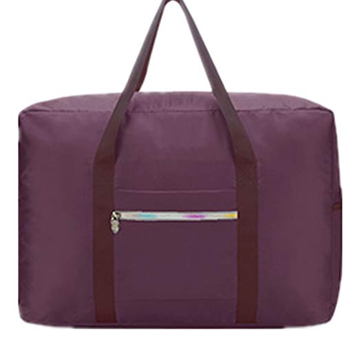 Cloth Double Layer Large-Capacity Travel Storage and Sorting Bag Portable Trolley Bag Luggage Bag (24colors) Purple 43X15X31cm ()