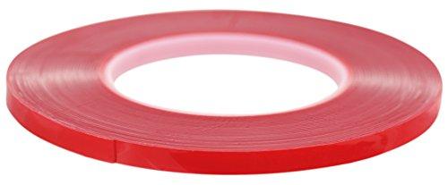 FiveSeasonStuff® Polyvalent Haute Résistance Acrylique Ruban adhésif double face pour réparation de téléphones mobiles, des véhicules automobiles, maison et jardin, industriel, bureau, atelier, garage. applications de surface pour le bois, le verre, le métal, les plastiques, les composites, foamex, les surfaces peintes (tailles disponibles de 3mm à 50mm et épaisseur 0.2mm ou 1mm) chaque bande est de 10mètres de long (8mm x 1mm)