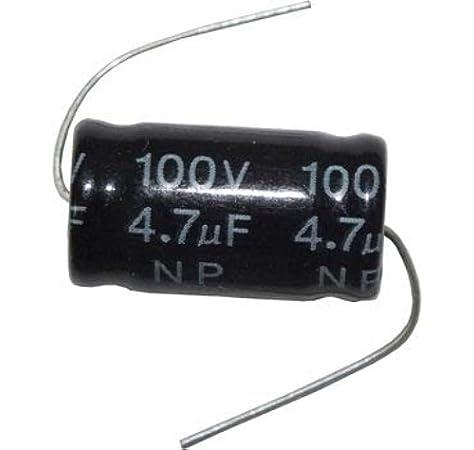 Condensatore Elettrolitico 8,2 uF no polarizzato 100 VOLT filtro audio crossover