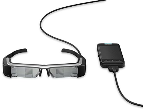 Epson Moverio BT-200 intelligente Multimedia-Brille mit Polysilizium-TFT-Aktivmatrix (VGA-Sensor...