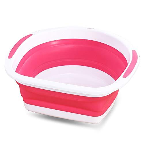 Lingqiqi Waschbecken Faltbare Spüle zum Geschirr spülen Beim Camping, Wandern und zu Hause Wasserbecken (Farbe : Rosa)