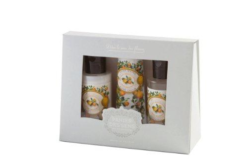 Panier des Sens Essentiels Coffret Voyage Provence Lait Corps 50 ml + Gel Douche 50 ml + Crème Mains 30 ml