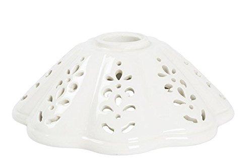 Lampadari In Ferro E Ceramica : Paralume ceramica bianca traforata di ricambio per applique e