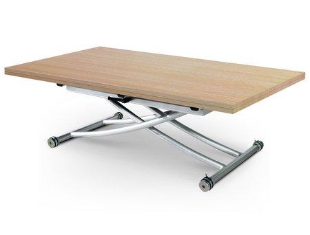 RDM Concept Table Basse relevable à Plateau & allonge dépliable Clever XL - Boiserie Chêne Clair