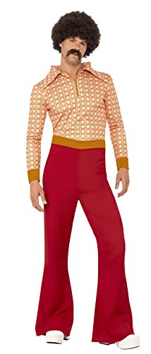 Men's 70s Costume, Top and Flared Pants. Three Sizes.