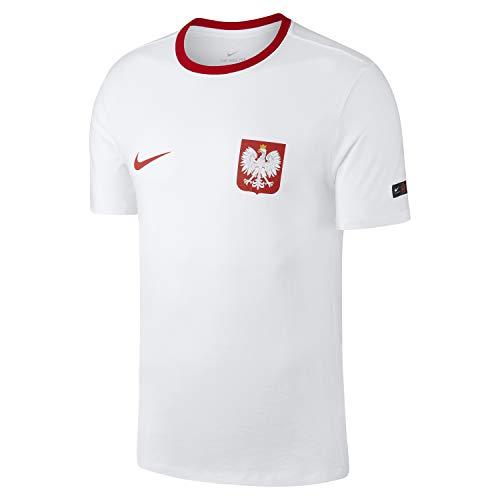 Nike POL M NK Tee Crest Weiss - M -