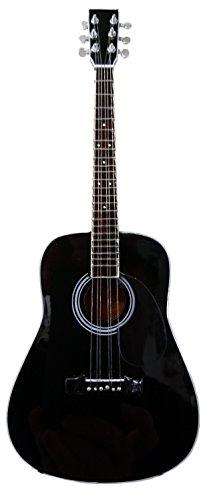 Miniatur Nachbau: Johnny Cash Schwarz Akustik d-35–Modell Mini Rock Kuriositäten Nachbildung Holz Miniatur-Gitarre & Display Gratis Ständer (UK - Akustische Martin Gitarre Schwarz