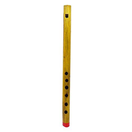 Braun Bansuri Holz handgefertigte traditionelle Musikinstrument Flöte Dekor Bambus