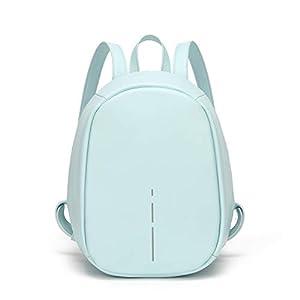 FANDARE Mochila Mujer Mochilas Tipo Casual Bolsas Escolares Mochilas Infantiles Mochilas de a Diario Niña Estudiante Viaje Daypack Impermeable PU Azul