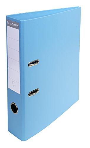 Exacompta-53702E-Classeur--Levier-PVC-2-Anneaux-Format-A4-Dos-de-70-mm-Bleu-Clair