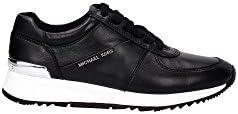 Sneaker Michael Kors Allie Trainer in pelle bianca e vernice nera