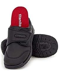 Titanitos Zapatos Colegiales Lavables niña Azul Marino FEBE (Talla 24)