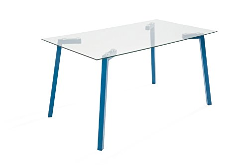 Soliving TRANSEND Table Repas Verre, 140 x 80 x 75 cm