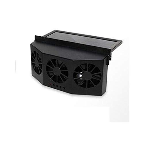 CONRAL Solar angetriebene Auto-Fenster-Kühlerlüfter, Automobile Windschutzscheibe Kühler Kühler Belüftungsventilator Mini Klimaanlage Kühler Sommer Vehicls Kühlwerkzeuge,Black