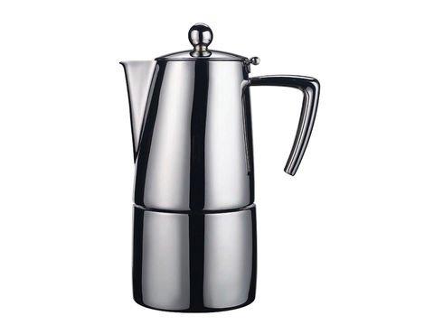 Ilsa 0091 S10 Slancio Espressokocher edelstahl matt für 10 Tassen (Matt Espresso-finish)
