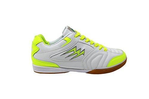 Agla F/40 Scarpe Da Futsal Indoor, Bianco/Giallo Fluo, 29 cm/46