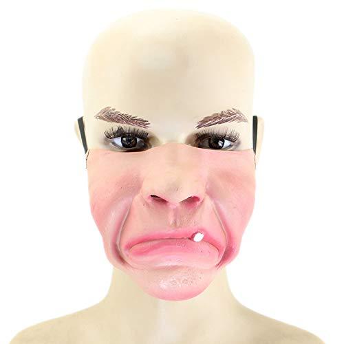 Halloween Kostüm Party Latex Lustige Halb-Gesicht-Maske,5 ()