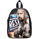 Custom Unisex Leather Teenager School bag(Zaini) Dwayne Johnson Printed Casual Travel Backpacks Large