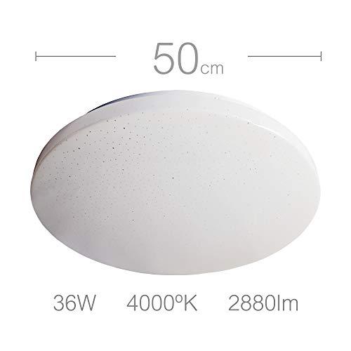 LED-Deckenleuchte, groß, 50 cm, rund, 36 W (entspricht 240 W), Neutralweiß