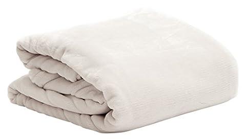 Snug Me Supersoft Kuscheldecke, flauschig weiche XXL Cashmere-Touch Wohndecke 200 x150 cm, hochwertiger 280g/m2 Flannel-Fleece, Microfaser-Decke, (Glatte Glanz Creme)