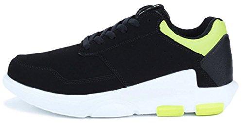 DADAWEN Chaussons Sneaker Mixte Adulte Vert