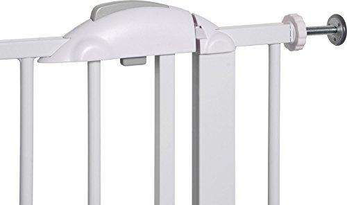 IB-Style – Treppengitter / Türgitter MIKA | Erweiterbar durch Verlängerungen | 75 – 175 cm | Auto-Close – automatisches Schließen | 90° Fixierung | Metall Weiß| Spannbreite 75 – 85 cm - 5