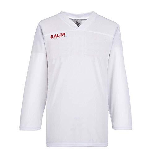 EALER Erwachsene Dry Fit Training Hockey Trikot Senior Farbe, Damen, weiß, Senior Small