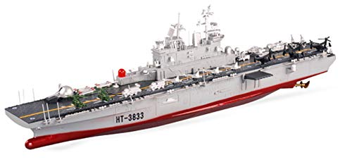 MODELTRONIC Radio Control Boat Scale 1: 350 RC ship Amphibious Assault Ship US Wasp Class HT-3833 with radio station in 2.4G / Radio Control Boat / Remote Control Boat / Includes Everything Needed