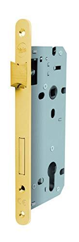 Cerradura para enhebrar puertas de madera con frontal borde redondo, e