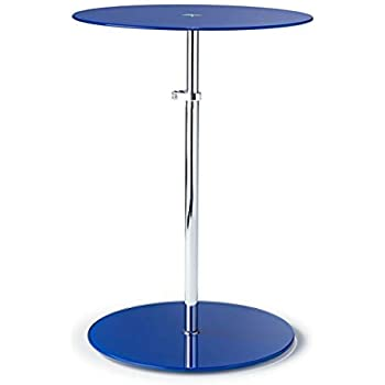 Kandi Glass Height Extending Side Table in 8 Colours! Blue