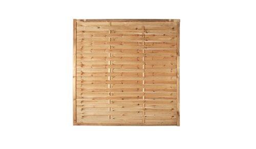 *6 x Lamellenzaun Sichtschutz im Maß 180 x 180 (Breite x Höhe) cm aus Kiefer/Fichte Holz, druckimprägniert*