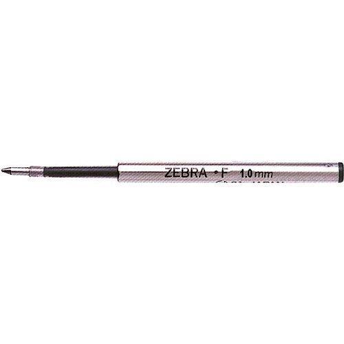 Zebra F-1.0 Kugelschreiber-Ersatzmine Medium 1mm, für F-301, F-701, versenkbar, Spirale, Schwarze Tinte, 12 Stück (Zebra Kugelschreiber F 301)