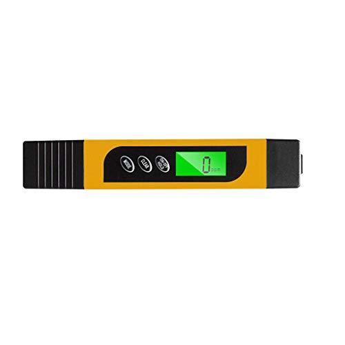 TIREOW PH Meter mit LCD Anzeige Digitaler Wassertester Wasserqualität Prüfung Stift für Chemie Trinkwasser Garten Bauernhof Rasen Indoor und Outdoor 32.0-122.0 ° F (Gelb) -