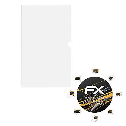 atFolix Panzerfolie kompatibel mit Toshiba Portege X30T-E Schutzfolie, entspiegelnde & stoßdämpfende FX Folie (2X)